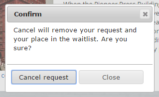 Cancel request screenshot